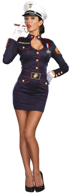 Take Charge Marge Navy Uniform Costume