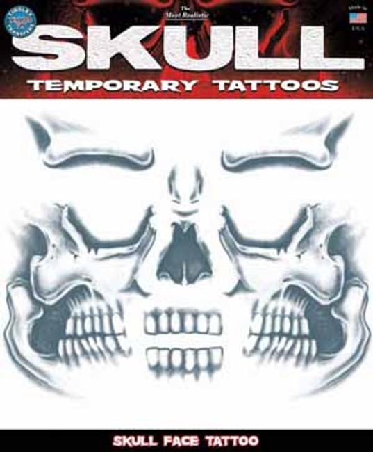 Skull Face Prison Temporary Tattoo