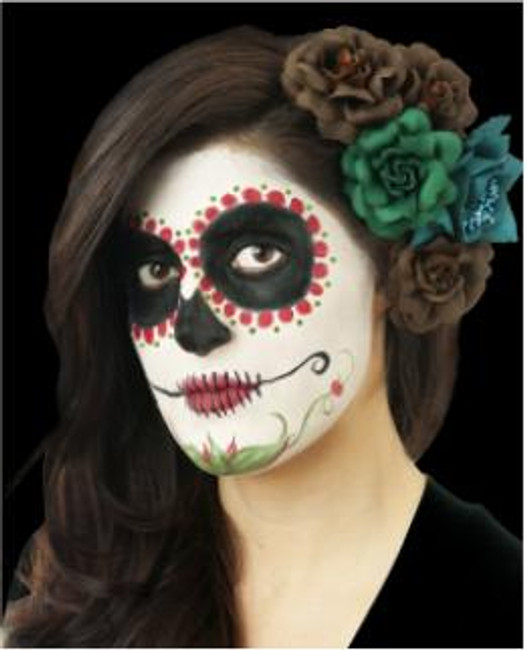 Day of the Dead Sugar Skull Make-up Kit in Red
