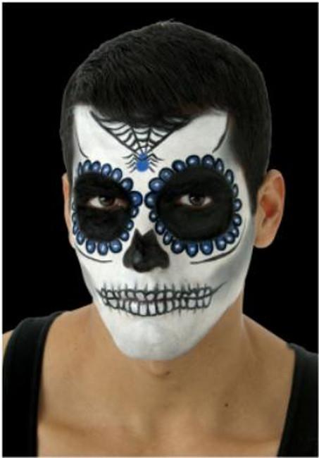 Day of the Dead Sugar Skull Make-up Kit in Blue