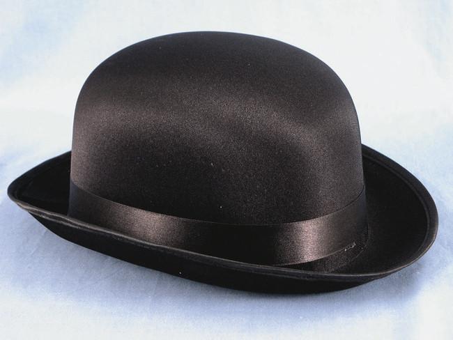 Black Satin Derby Hat