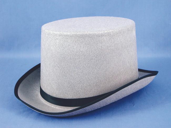 Grey Felt Top  Hat
