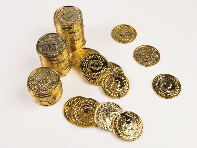 Ancient Gold Coins Pirate Treasure or Roman Gold