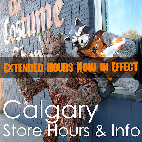 Calgary Store Hours and Info - The Costume Shoppe
