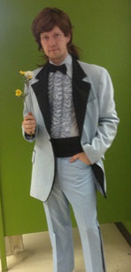 70s blue tuxedo