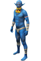 Blue Orc Jaw Dropper Adult Morphsuit Costume
