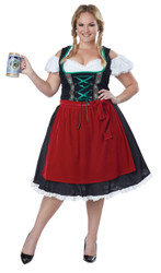 Ladies Plus Fraulein Oktoberfest Costume