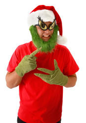Dr Seuss Grinch Santa Hat and Beard