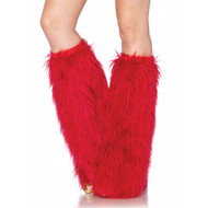 Furry Red Leg Warmers