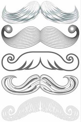 Santa Moustache Stachetats Tattoos