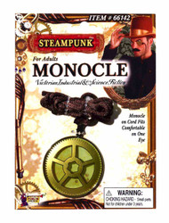 Steampunk Gear Monocle with Cord