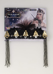 Roaring 20s Black and Gold Flapper Crown