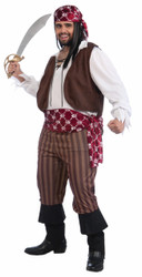 Shipwrecked Pirate Plus Costume