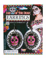 Dead of the Dead Skull Earrings