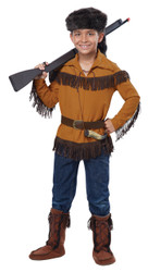 Child Frontier Boy Davy Crockett Costume