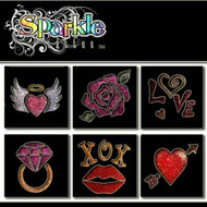 Love Stencil Collection Glitter Temporary Tattoos