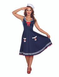 All Aboard Sailor Ladies' Plus Costume