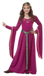 Medieval Burgundy Princess Children's Costume