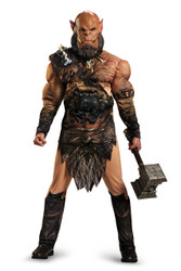 Orgrim Warcraft Deluxe Muscle Men's Costume