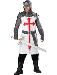 Mens Noble Crusader Knight Costume