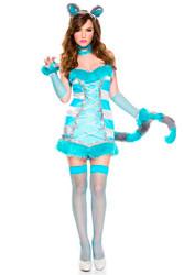Cheery Cheshire Cat Ladies Costume