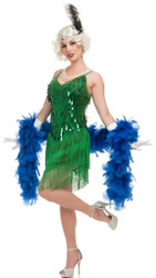 1920s Green Flapper Ladies Costume