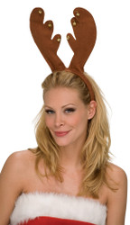 Reindeer Antlers with Bells Headband