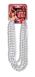 "20s 72"" White Flapper Beads"