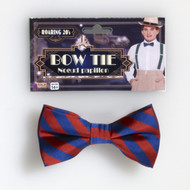 Roaring 20s Red and Blue Striped Bowtie