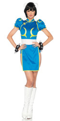 Anime Chun Li Street Fighter Ladies Costume
