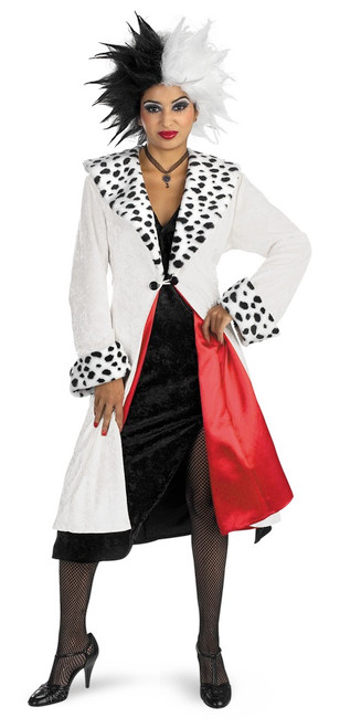 Cruella De Vil Disney Villain Halloween Costume The