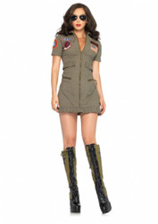 Top Gun Ladies Flight Pilot Dress Costume