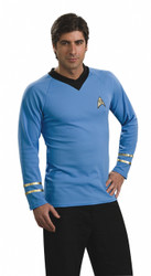 StarTrek Original Blue Spock Shirt Costume