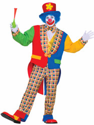 Clown On The Town Adult Halloween Costume