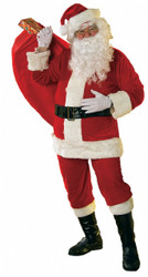 Soft Red Velour Santa Suit Costume