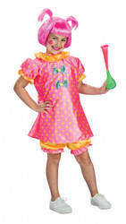 Girl's Pink Clown Costume