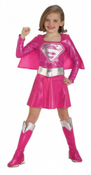 Pink Supergirl Child's Costume