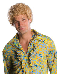 Blond Tight Afro Adult Costume Wig