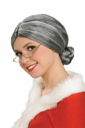 Old Lady Mrs. Claus Wig