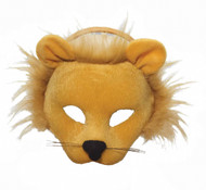 Plush Half Face Lion Mask with Hairy Mane