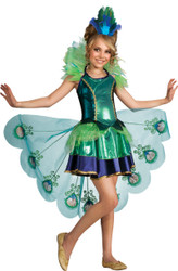 Girls Fancy Peacock Bird Costume
