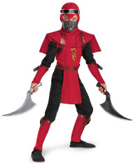 Red Viper Ninja Boy's Halloween Costume