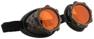 Cyber Stream Gold & Orange Goggles