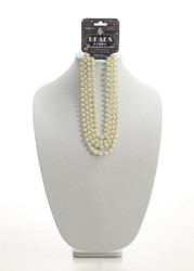 "72"" Beige Beads, Flapper Pearl Necklace"