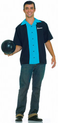 King Pin Men's Uniform Bowling Shirt Costume