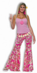 Bell Bottom Pants - Ladies Hippie Costume