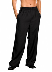 Mens Basic Black Costume Pants