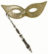 Gold Festival Mask on Stick