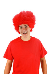 Red Fuzzy Thing Wig