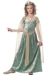 Queen Guinevere Medivil Girls Costume